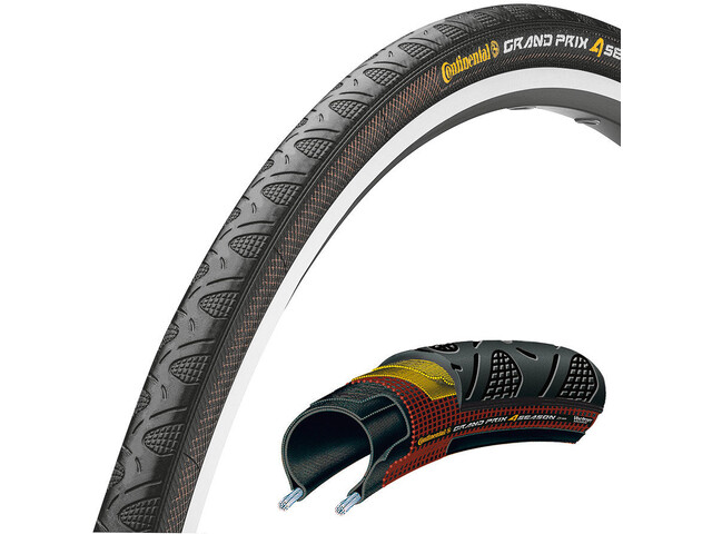 "Continental Grand Prix 4-Seasons Tyre 28"" folding, black"